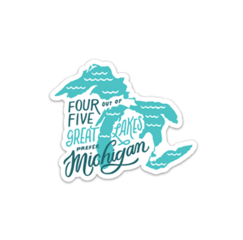 4/5 Great Lakes Sticker