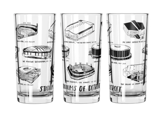 Stadiums of Detroit Glass (12oz)