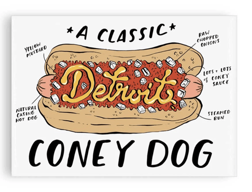 Detroit Coney Dog Magnet