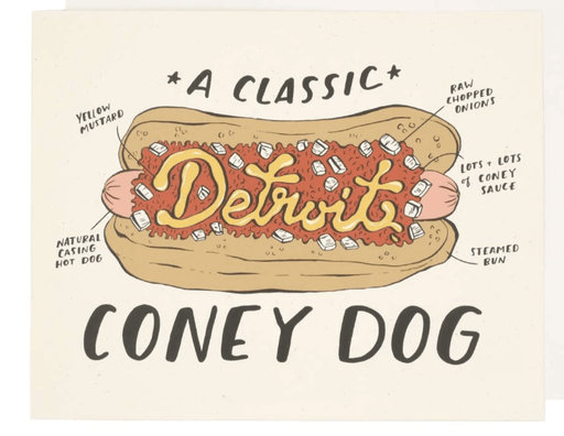 Detroit Coney Dog Print
