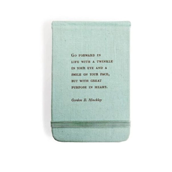 Fabric Notebook, Gordon B. Hinckley Quote