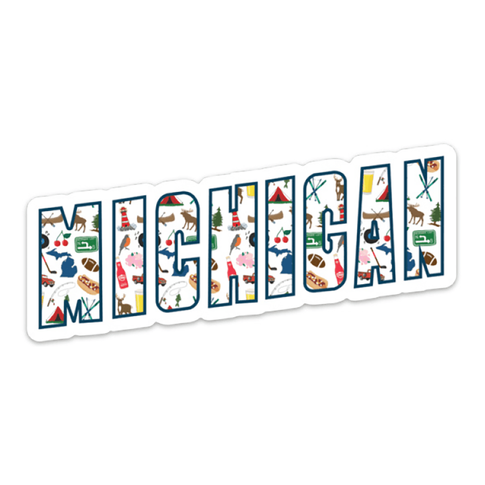 Michigan Icons Sticker