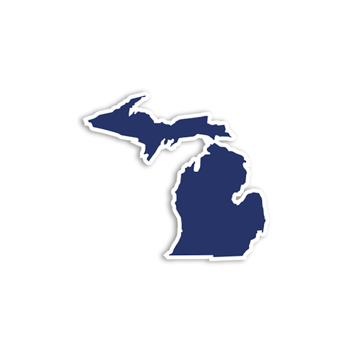Solid Color Michigan Stickers