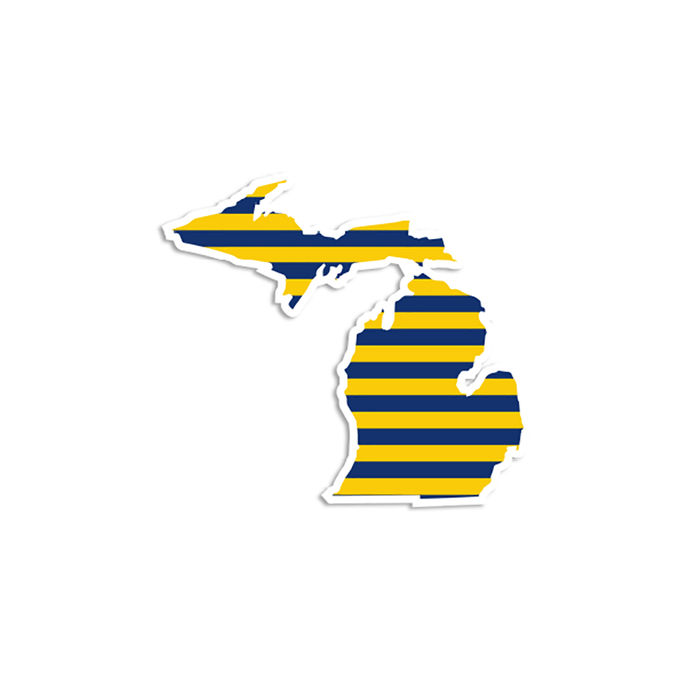 "Michigan ""Varsity Spirit"" Stickers"