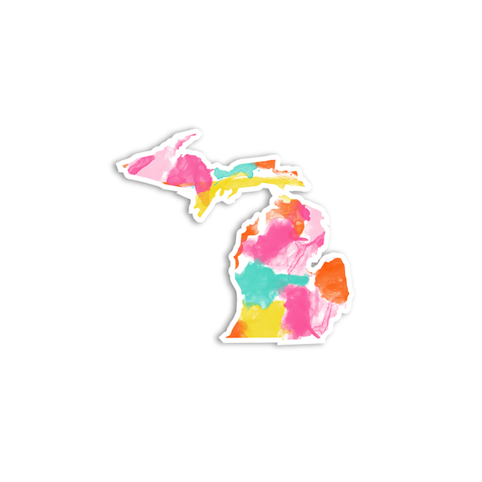Pattered Michigan Stickers (Multiple Styles)