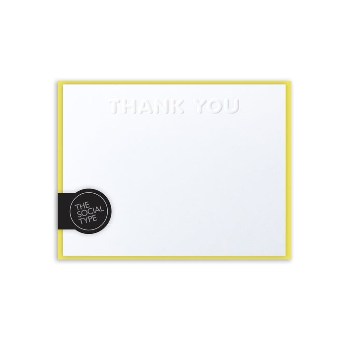 Embossed Thank You Notes