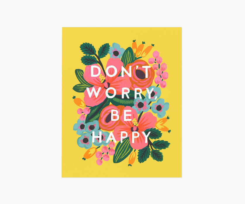 Don't Worry Be Happy 16 x20 Art Print
