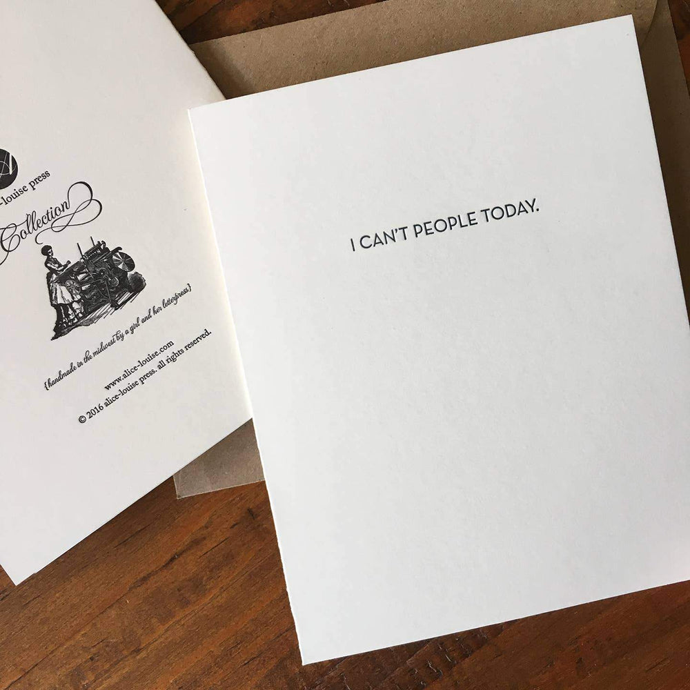 Can't People Today Card