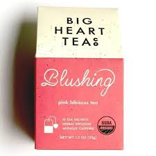 Blushing Big Heart Tea Bags