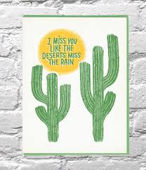 I Miss You Like the Desert Card