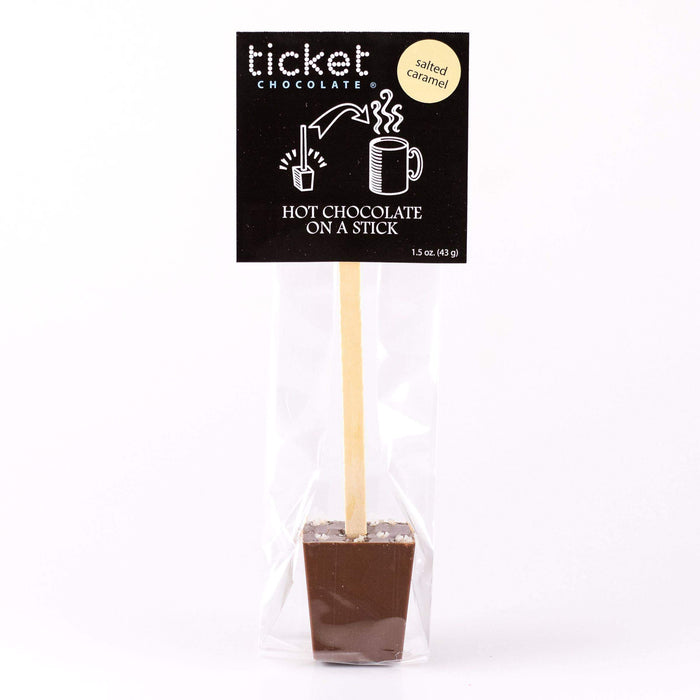 Single Hot Chocolate on a Stick-Salted Caramel