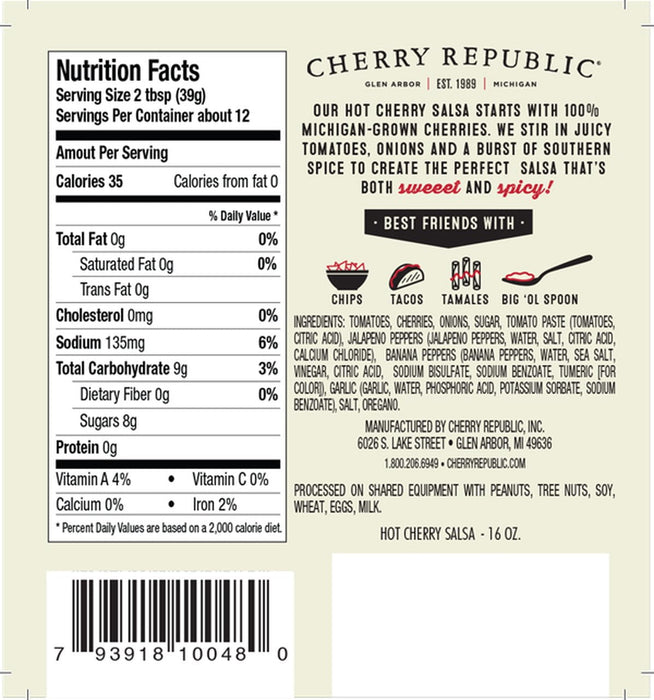 Cherry Republic Cherries On Fire Salsa