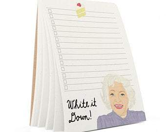 Betty White List Notepad