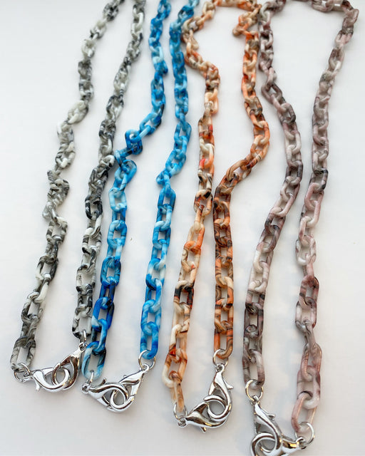 Marbled Acrylic Mask Chain
