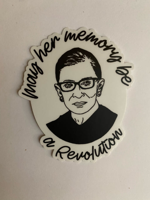 Ruth Bader Ginsburg Revolution Sticker