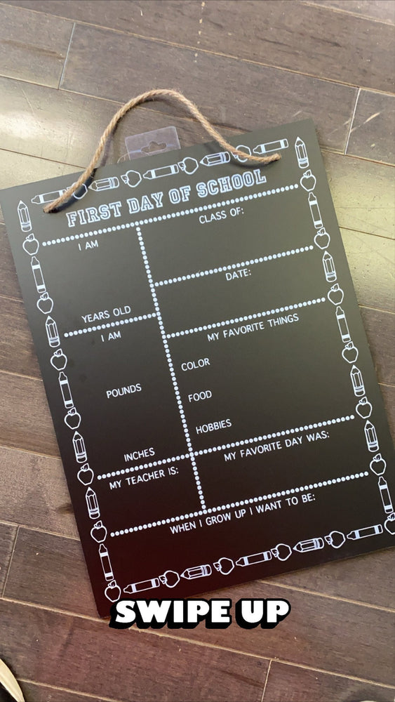PREORDER Back to School Personalized Chalkboard