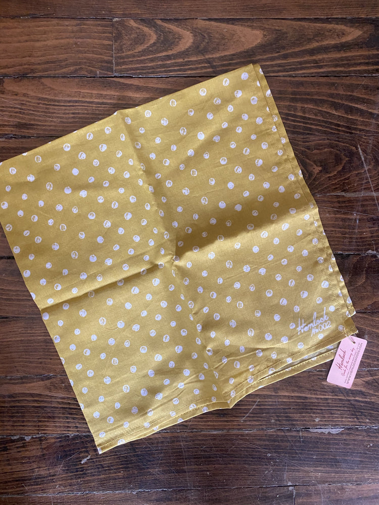 Hemlock Yellow Dot Bandana
