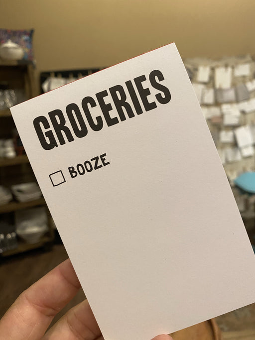 Booze & Groceries Notepad