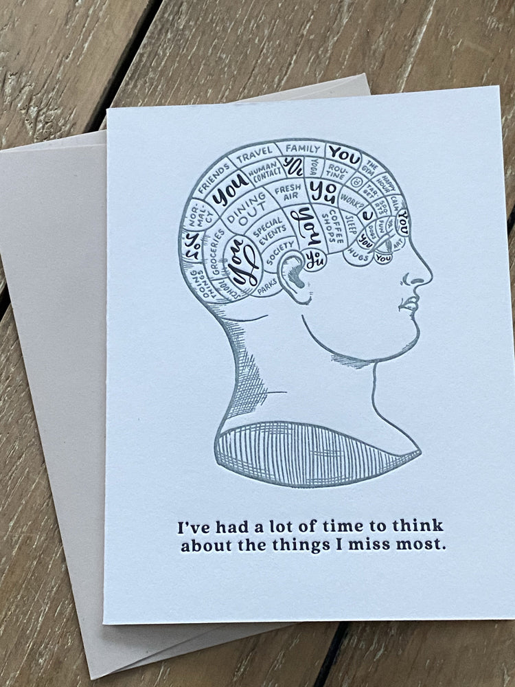 Time to Think Quarantine Letterpress Card