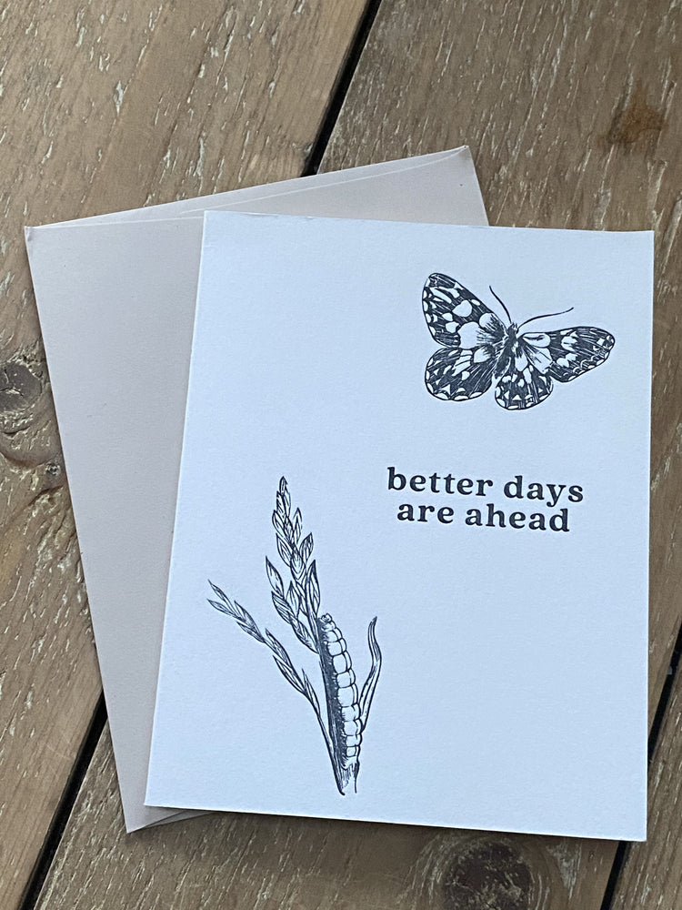 Better Days Are Ahead Quarantine Letterpress Card