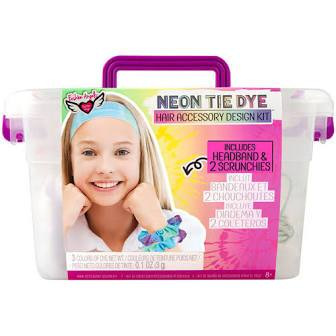 Neon Tie Dye Hair Accessory Kit