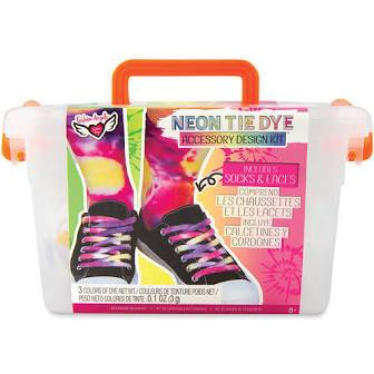 Neon Tie Dye Socks Kit