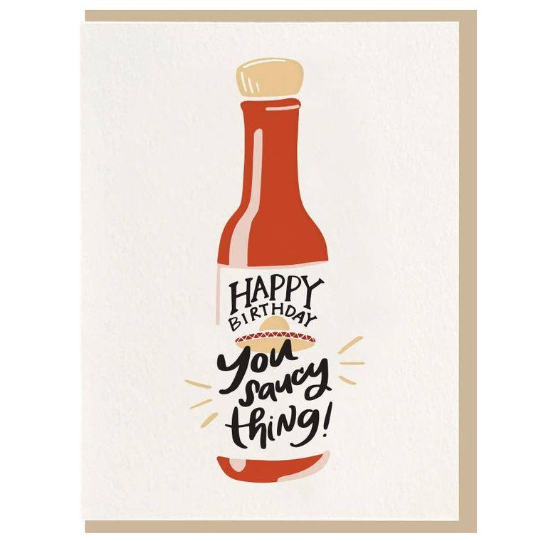Saucy Thing - Letterpress Card