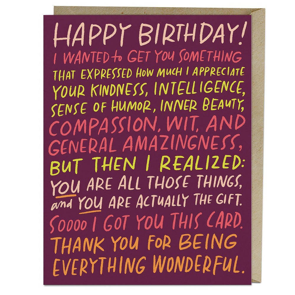 Everything Wonderful Birthday Card