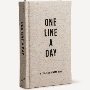 One Line A Day Canvas Journal