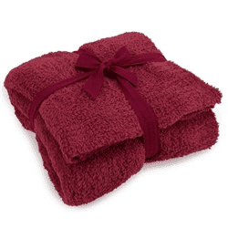 Barefoot Dreams Cozychic Cranberry Throw