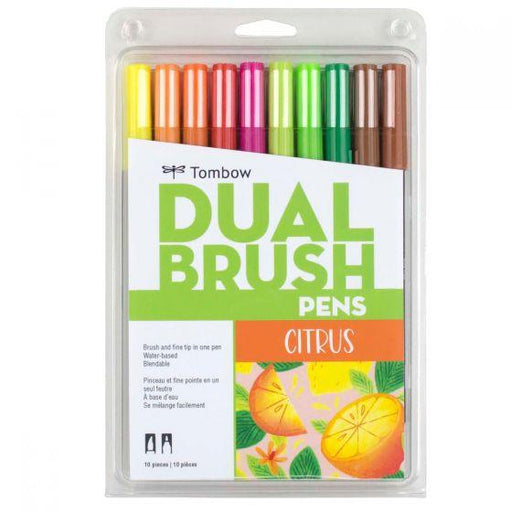 Dual Brush Pen Art Markers, Citrus Palette, 10-Pack