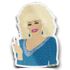 Dolly Parton Middle Finger Sticker