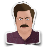 Ron Swanson Parks & Rec Sticker