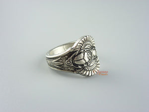 Scarab Egyptian Upcycled Britannia Pewter Spoon Ring