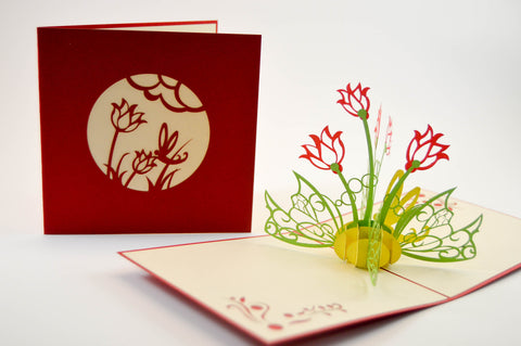 3D Pop Up Card Flowers