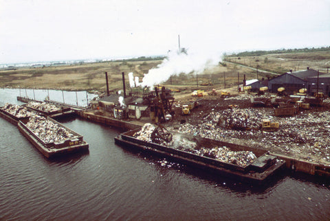 Fresh Kills Landfill in New York State and New Jersey area