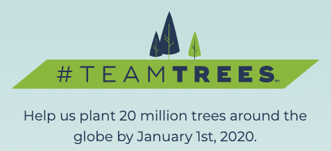 TeamTrees with MrBeast Raising 20 Million Dollars to Plant 20 Million Trees
