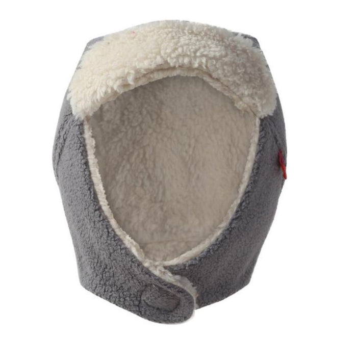 Cozie Fleece Trapper Hat, Gray