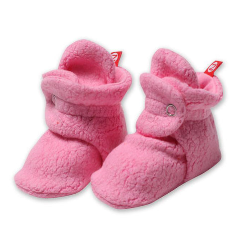 Cozie Fleece Booties, Hot Pink