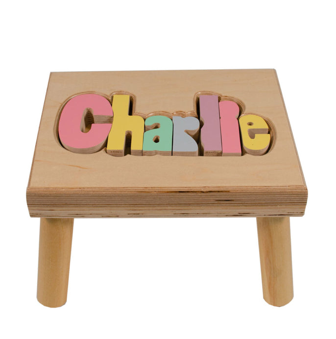 Name Stool - Pastel Colors
