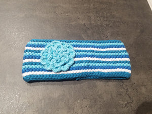 Knit Stripe Headband, Blue