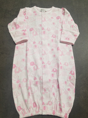 Endearing Elephants Conv. Gown - Pink