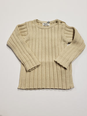Ribed Sweater, Ivory