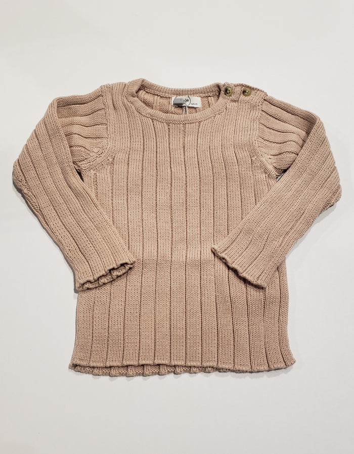 Ribbed Sweater, Dusty Rose