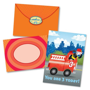Fire Truck Birthday Card