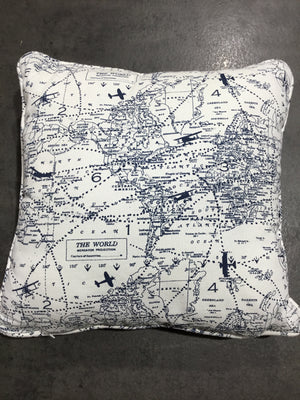 Airplane Map Pillow & Banner Set