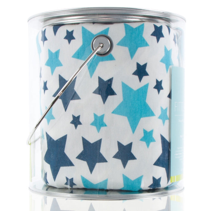 Fitted Crib Sheet - Confetti Star