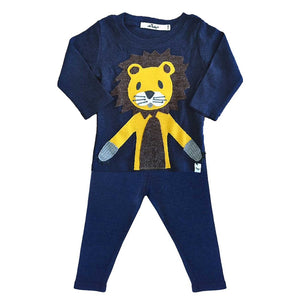 Lion 2PC Set, Navy