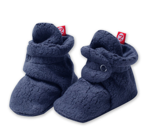 Cozie Fleece Booties, Denim Navy