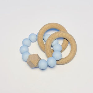 2 Ring Teether, Blue